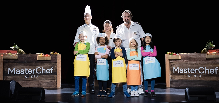 MSC Seaview debuts MasterChef Juniors cooking experience