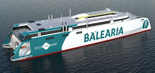 Baleària to introduce fast ferry powered by dual-fuel LNG engines