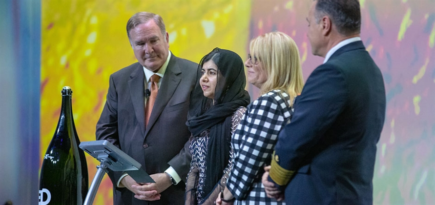 Malala Yousafzi christens Celebrity Edge at Port Everglades