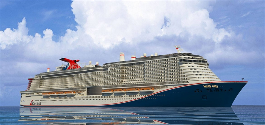 Carnival to name first LNG-powered ship Mardi Gras