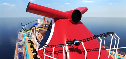 Carnival Cruise Line to launch first-ever roller coaster at sea