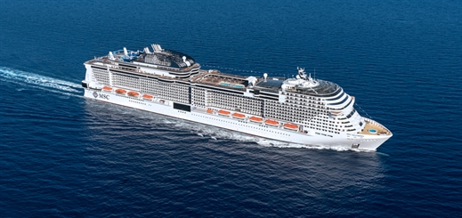 MSC Grandiosa moves a step closer to completion in France