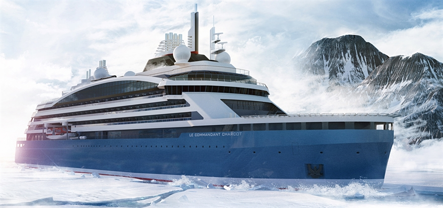 Vard lays keel for Ponant's electric hybrid polar expedition ship