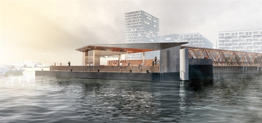 Work begins on London's Royal Wharf Pier designed by Nex—
