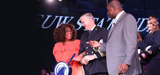 Oprah Winfrey christens Nieuw Statendam at Port Everglades