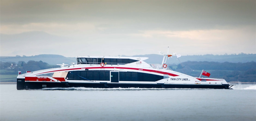 Wight Shipyard Co hands over new Twin City Liner vessel