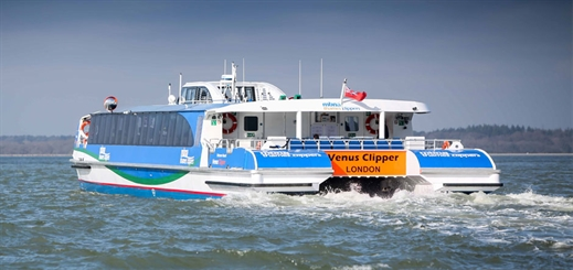 Wight Shipyard Co delivers newest ship to MBNA Thames Clippers