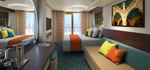 New stateroom designs on Carnival's Mardi Gras