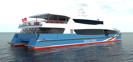 Incat Crowther designs new Samso Rederi ferry