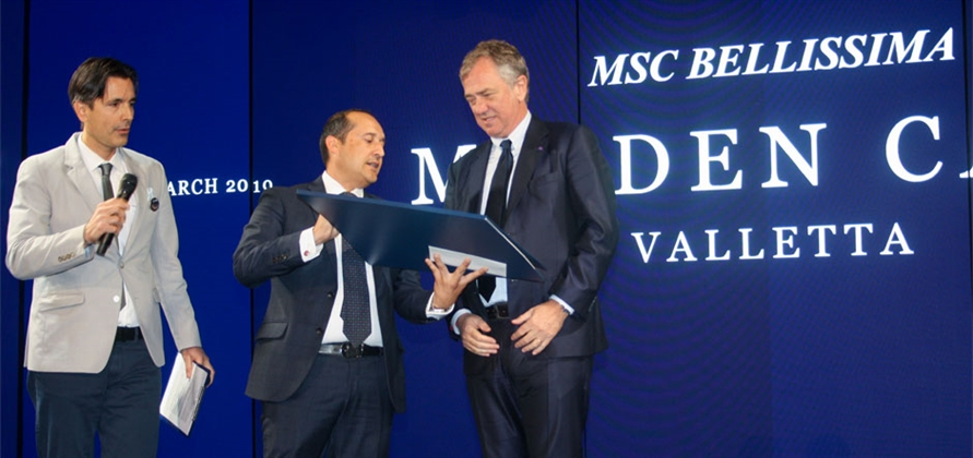 MSC Bellissima makes first of many calls in Valletta