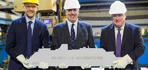 Meyer Werft and Saga Cruises celebrate steel-cutting of new ship
