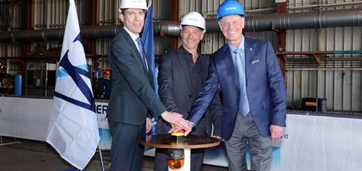 Windstar Cruises celebrates steel-cutting for ship renovations
