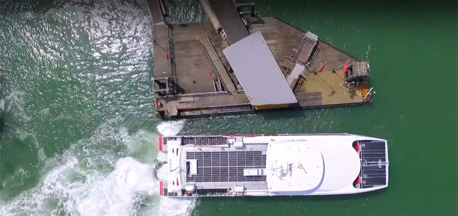 Red Funnel trials new Azurtane vessel positioning system
