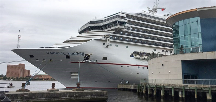 Carnival Sunrise makes Virginia debut following refit