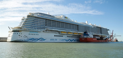 AIDA Cruises' AIDAnova calls in Barcelona for the first time