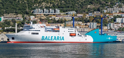 Gibdock converts Baleària ferry to run on LNG fuel