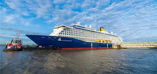 Saga's Spirit of Discovery prepares to undergo sea trials