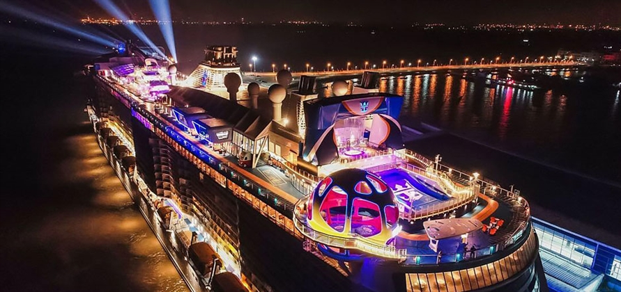 Chinese celebrities christen Spectrum of the Seas in China