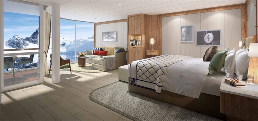 Seabourn unveils new suites for expedition ships
