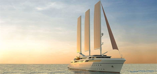 Knud E. Hansen unveils sail-assisted wind cruise vessel