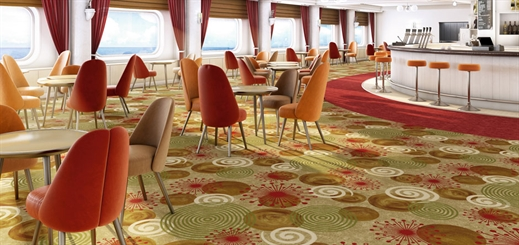 The power of maximalism in flooring design on cruise ships