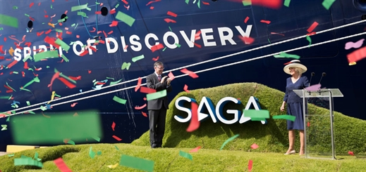 Saga names new ship with help of HRH The Duchess of Cornwall