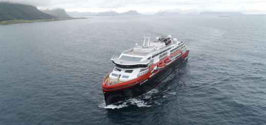 Hurtigruten's Roald Amundsen enters service in Norway