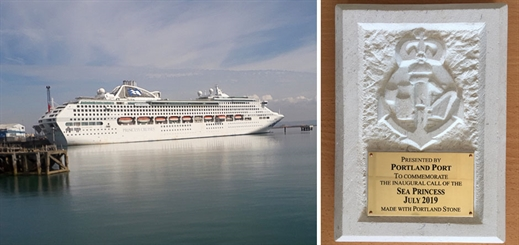 Portland Port hosts an inaugural call from Sea Princess