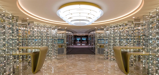 What leads to interior designers creating a masterpiece on a ship?
