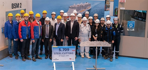 Meyer Werft cuts steel for AIDA Cruises' second LNG ship