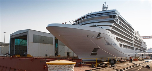 Silver Moon floats out of building dock at Fincantieri's yard