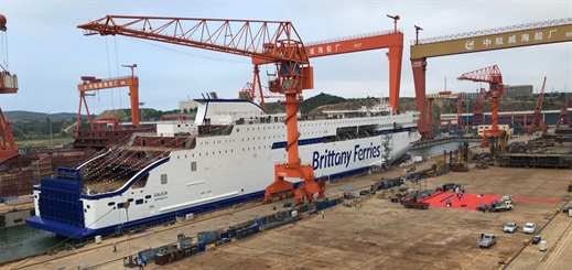 Brittany Ferries celebrates milestones for two E-Flexer cruise ferries