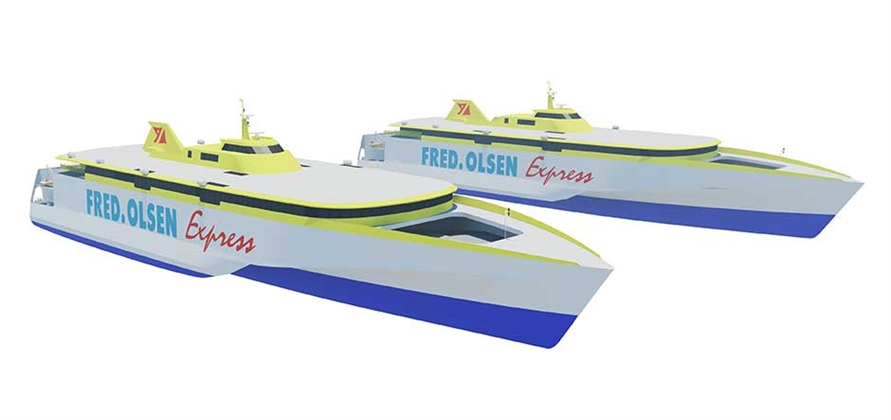 New Fred. Olsen trimarans to feature Clase Oro VIP lounge