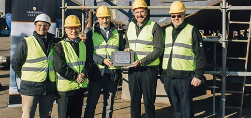 Seabourn celebrates keel laying for Seabourn Venture