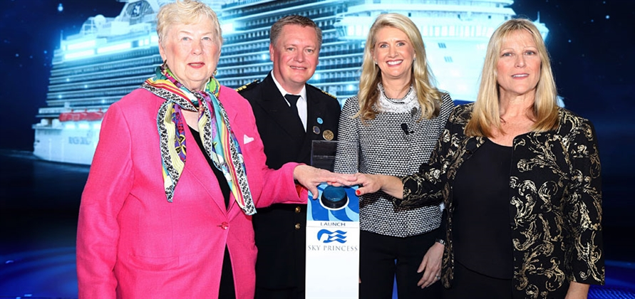 Sky Princess officially named by Princess Cruises