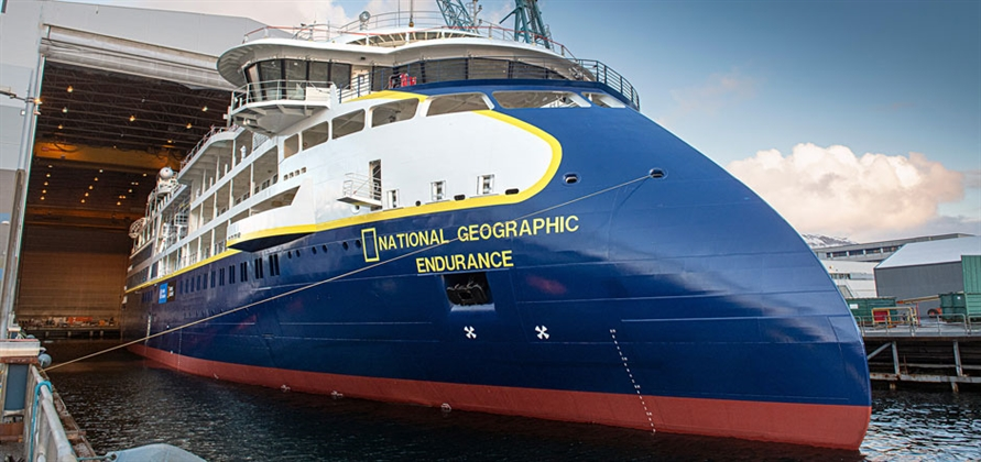 National Geographic Endurance floated out