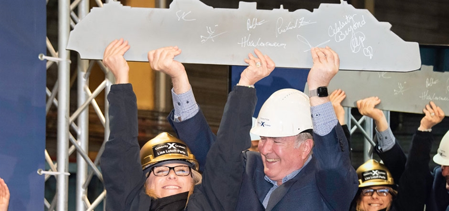 Celebrity Cruises cuts first steel for Celebrity Beyond