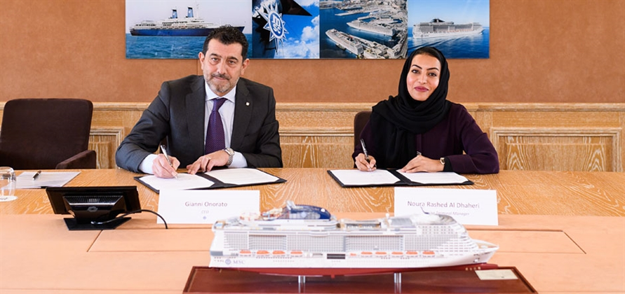 MSC Cruises and Abu Dhabi Ports sign berthing agreement