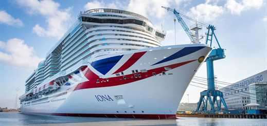 Iona leaves Meyer Werft shipyard for sea trials