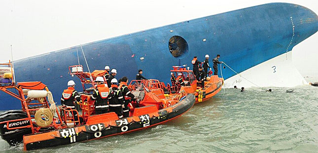 Sewol rescue op ongoing
