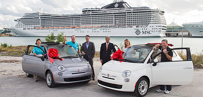 MSC awards Fiat 500 cars