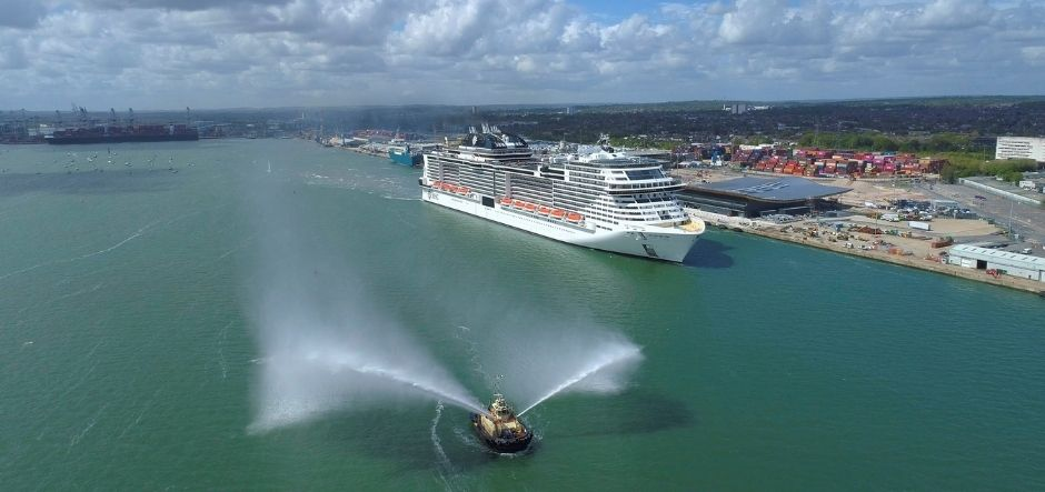 MSC Virtuosa arrives in Southampton for maiden season